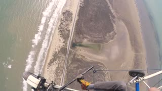 Couple Low Altitude Skydive from Powered Parachute