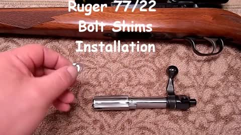 Ruger 77/22 and 77/17 Bolt Shim Installation - Our Original 77/22 Bolt Shims