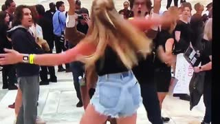 Girl Attacks Trump And Kavanaugh Supporter