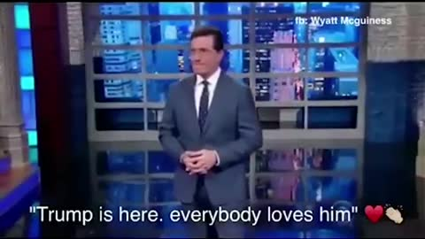 Colbert & audience cheering for Trump for President