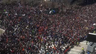People Flood the Streets of Washington Calling for Gun Reform - Video