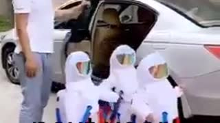 Kids going to school funny covid 19