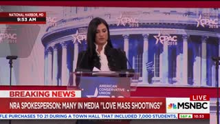 NRA's Dana Loesch Says Florida Shooting Survivors Wanted to 'Burn Her' - Video
