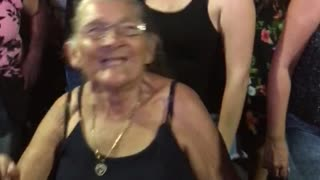 Grandmother Joins in the Fun at Concert - Video
