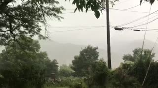 Scarily Close Lightning Strike