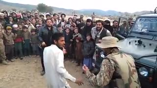 Dance Competition between Pak Army person & Pathan  - Video