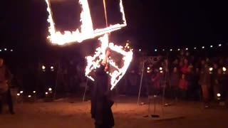 Slow motion fire show!