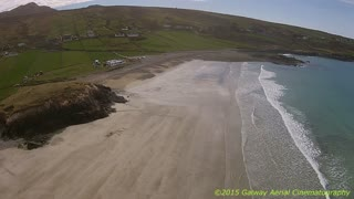 Incredible aerial view of Irish coast