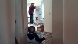 Dad Argues With Toddler - Video