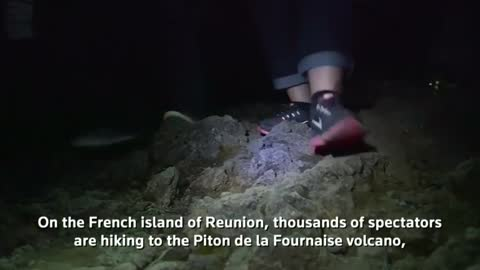 Volcano erupts on French island of Reunion