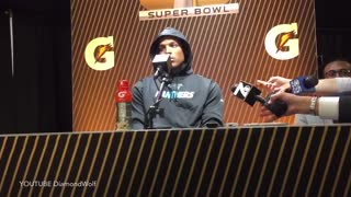 Cam Newton Walks Out of Post Game Press Conference - Video