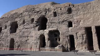 Yungang Grottoes, Shanxi, China - Video