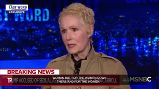 E. Jean Carroll on alleged assault by Trump more than two decades ago