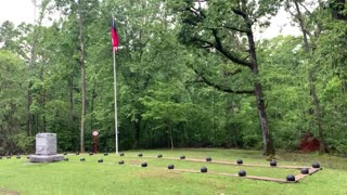 Confederate soldiers mass burial, Shiloh Battlefield