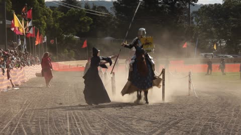 Knights of Old Battle it Out in a Joust at the Lithgow Ironfest