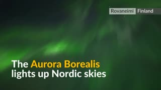 Northern Lights dazzle Finland sky - Video
