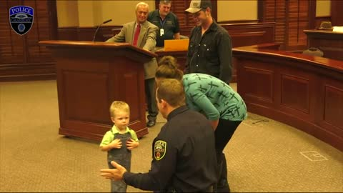 Granbury PD Officer saves child's life