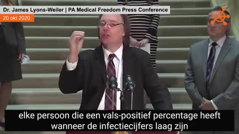 Dr. James Lyons- Weiler PA Medical Freedom Press Conference