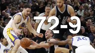 Golden State Warriors Tie 95-96 Chicago Bulls Single Season Wins Record - Video