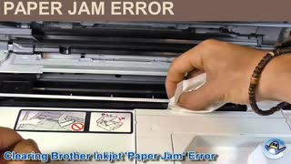 How to fix brother printer paper jam error| Toll Free +44 800-046-5291 - Video