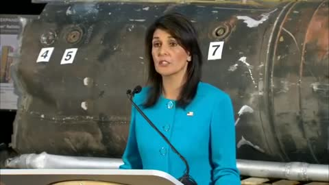 Nikki Haley Reveals Fragments From Alleged Iranian Missile