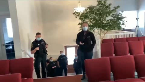 Police tried to intimidate church goers