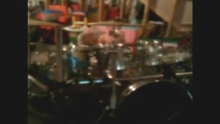 Jeremy Jamming on the Drums