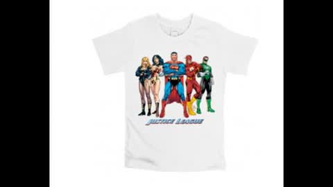 Justice League Batman and Wonder Woman Printed T Shirts