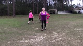 """70"" YEAR OLD WOMAN BATON TWIRLER - Video"
