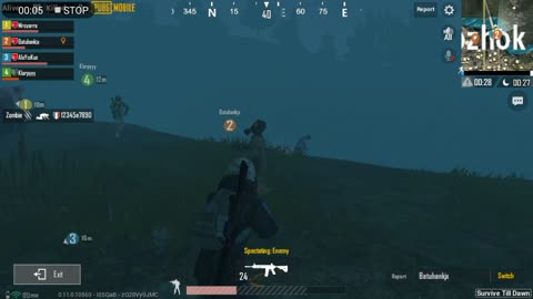 Zombie Field Fight Night Mode Pubg