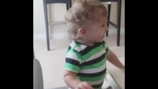 Adorable Baby Is Overly Excited That Dad's Home - Video