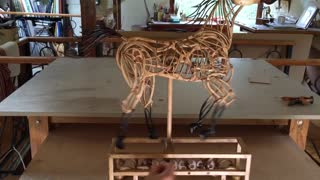 Amazing Moving Horse Sculpture - Video