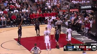 Portland Trailblazers Troll DeAndre Jordan After He Air Balls 2 Free Throws - Video