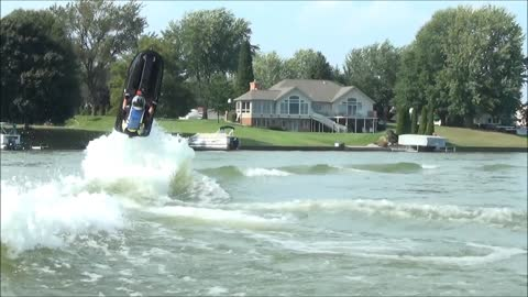 Epic fail: Man attempts to super flip a jet ski