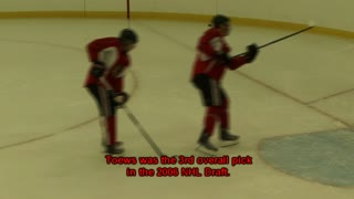 Chicago Blackhawks Jonathan Toews 2010 Hockey Practice - Video