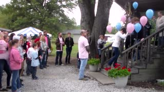 Gender reveal party turns into surprise proposal and wedding - Video