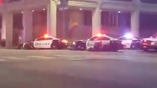 Dallas Sniper Attacks During Police Protest - Video