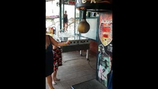 Mum Gets Owned By Punching Bag - Video