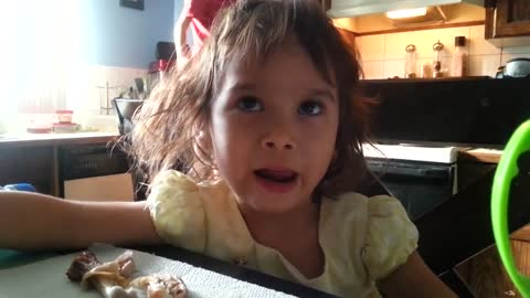 Toddler makes you smile with her crazy faces