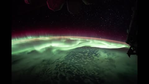 Gazing at Earth's light show from space