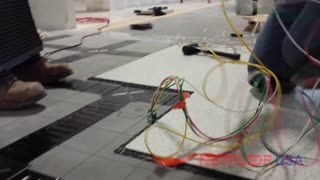 How to Install Finish Floor Tiles on a Cable Management Floor - Netfloor USA - Video