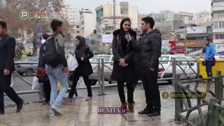 Interview with people on streets of Tehran - Video