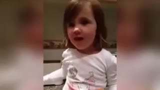 This little girl trying to say 'perfect' is hilarious.