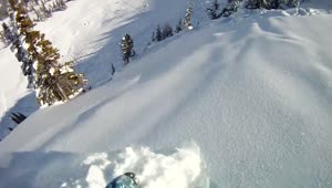 Snowboarder Gets Caught In Mini Avalanche - Video