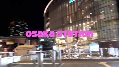 Osaka at night in Japan
