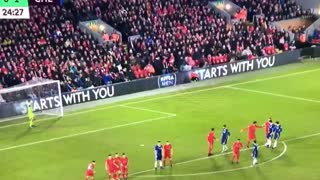David Luiz Freekick Goal Vs Liverpool - Video