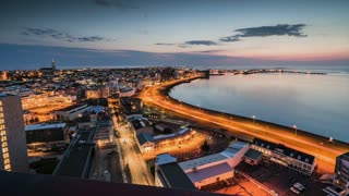 Aerial footage reveals Iceland's stunning capital city - Video