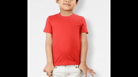 Kids Plain Blue Colour T Shirts