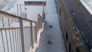 Unloading Packages at the Train Station - Video