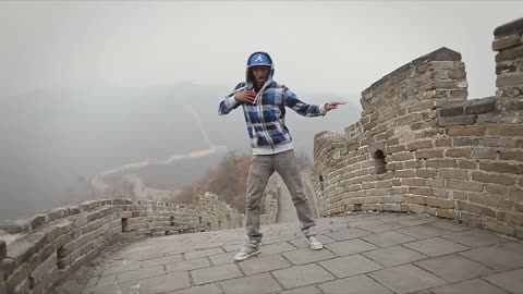 Dancing on the Great Wall of China